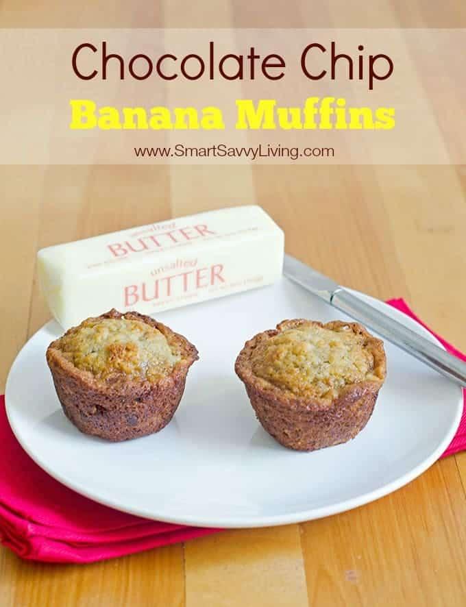 Chocolate Chip Banana Muffins Recipe 2