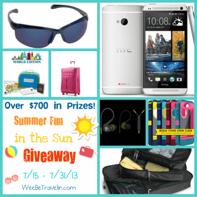Summer Fun in the Sun Giveaway – Over $700 in Travel-Friendly Prizes! Ends 7/31/13 (US)