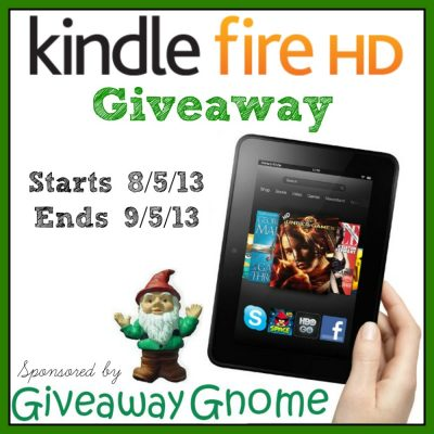 Kindle Fire HD Giveaway – Ends 9/5/13 (WW)