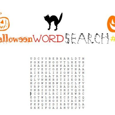 Free Printable Halloween Word Search #2
