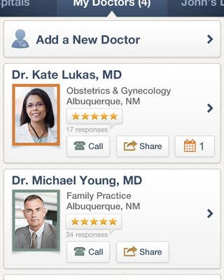 Finding a New Doctor with the Help of Healthgrades