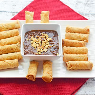 Shrimp Spring Rolls with Spicy Hoisin Peanut Dipping Sauce Recipe – The Perfect Holiday Appetizer