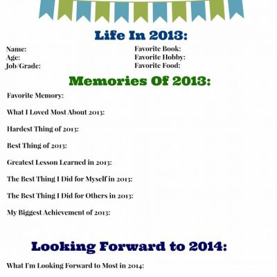 Free Printable – 2013 Year in Review