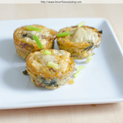 Mini Sausage, Spinach and Swiss Cheese Frittatas Recipe