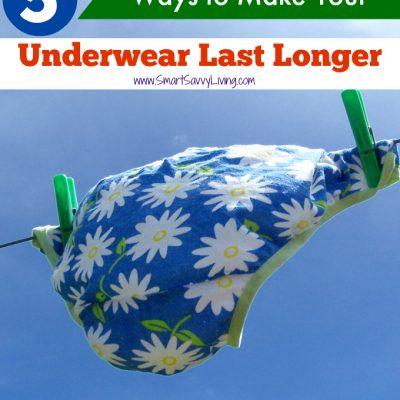 5 Ways to Make Your Underwear Last Longer