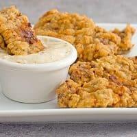 Chicken Fried Steak Fingers Recipe with Cream Gravy