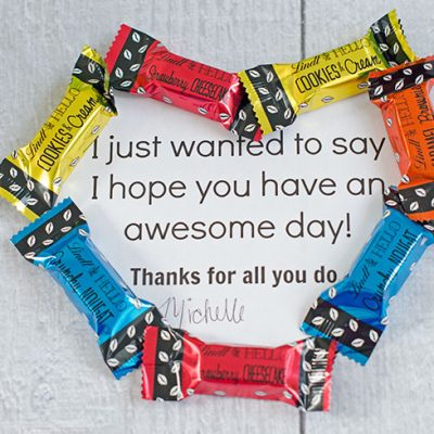 An Easy Way to Show Appreciation + Free Printable Candy Thank You