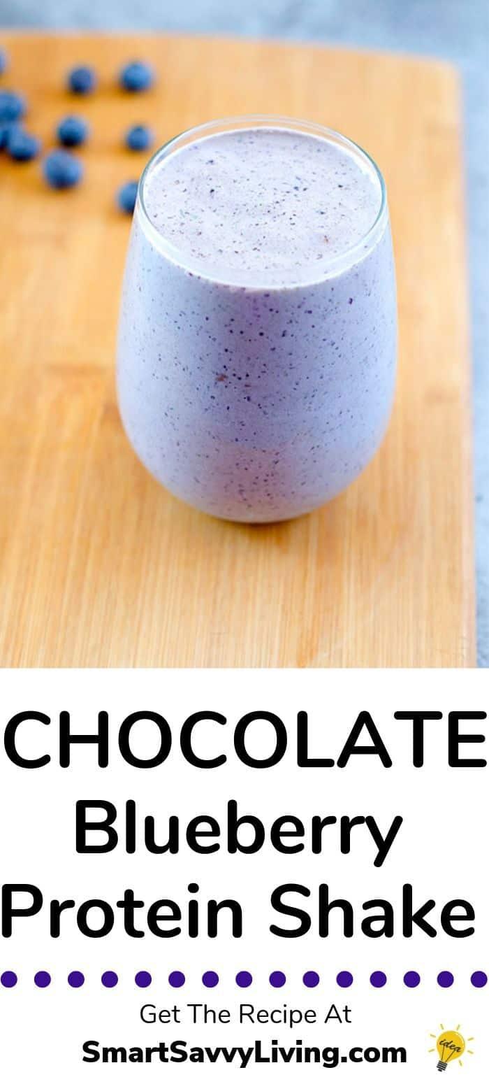 Chocolate Blueberry Protein Shake Recipe 2