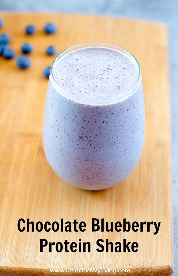 Chocolate Blueberry Protein Shake Recipe Picture