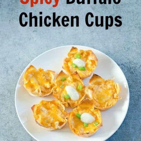 Spicy Buffalo Chicken Cups Recipe
