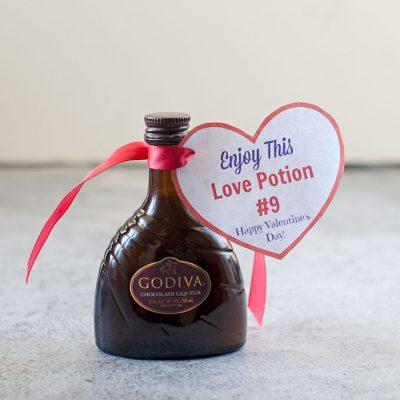 Free Printable Love Potion #9 Adult Valentines