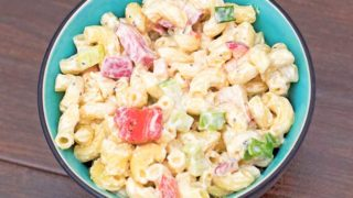 Macaroni Salad with Cucumber and Radish Recipe