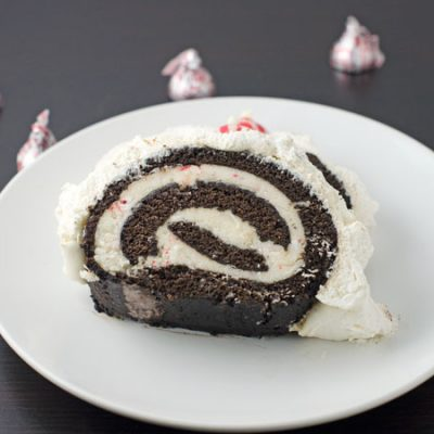 Chocolate Gingerbread Cake Roll With Peppermint Buttercream Recipe