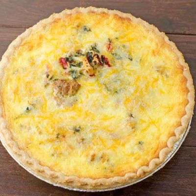 Sausage, Roasted Red Pepper, And Spinach Quiche Recipe