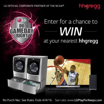 LG + hhgregg Play For Keeps Sweepstakes – Ends 4/4/16
