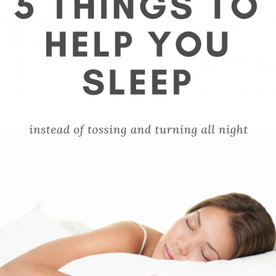 5 Things To Help You Sleep