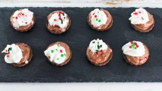 No-Bake Chocolate Peppermint Cheesecake Bites Recipe