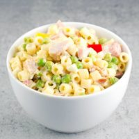 Pasta Salad With Ham And Peas