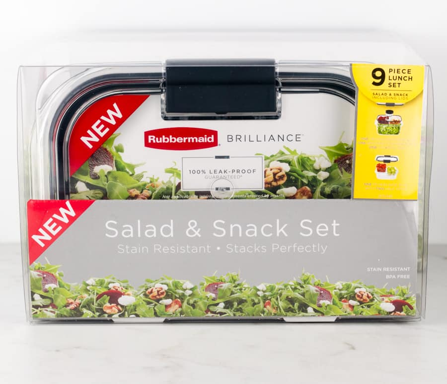 Rubbermaid BRILLIANCE Salad & Snack Set Review 1