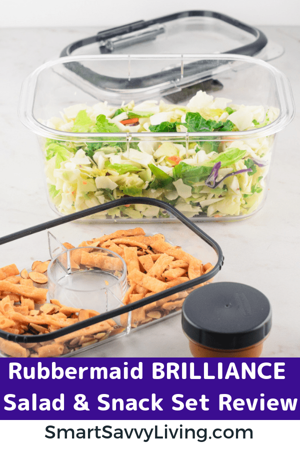 Rubbermaid BRILLIANCE Salad & Snack Set Review 7