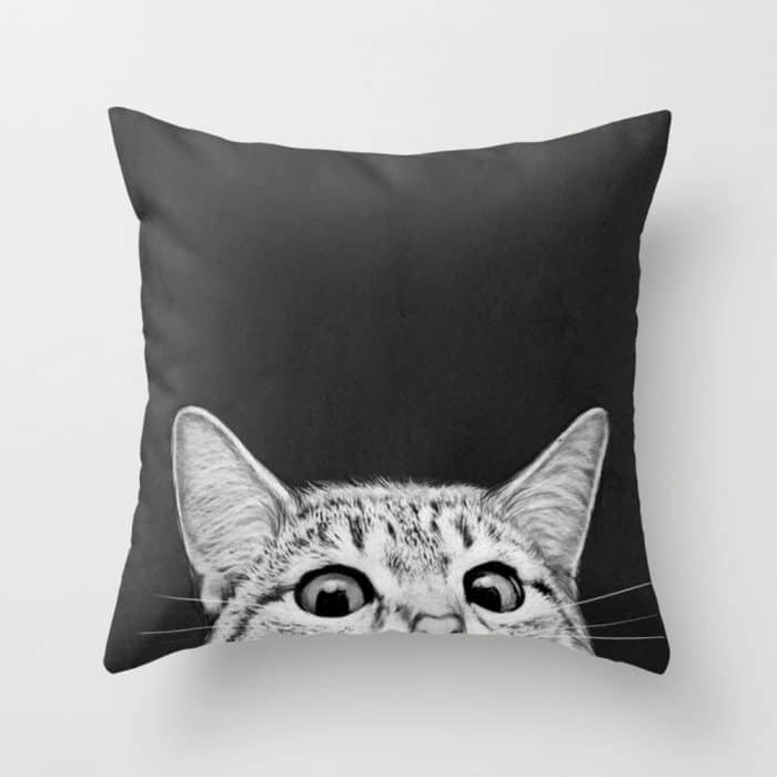 You Asleep Yet Cat Throw Pillow