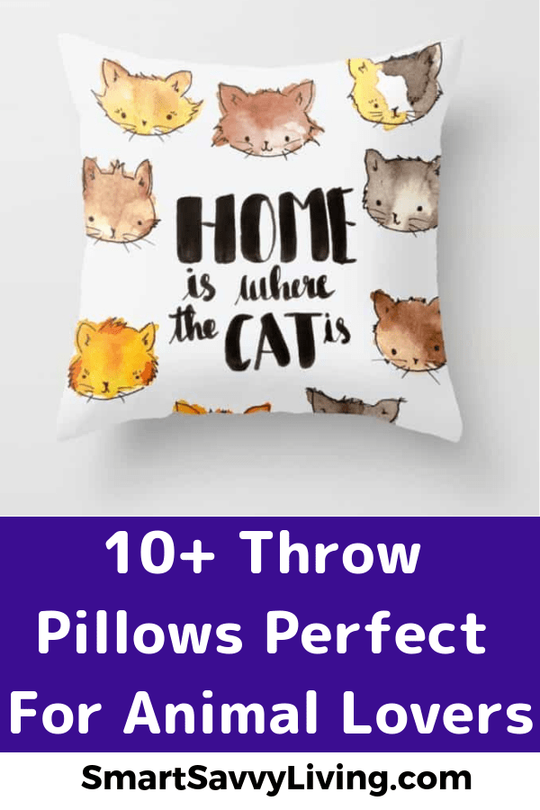 Throw Pillows Perfect For Animal Lovers 1