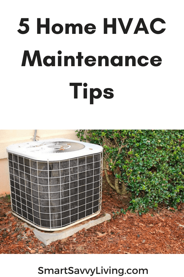 5 Home HVAC Maintenance Tips pinterest picture