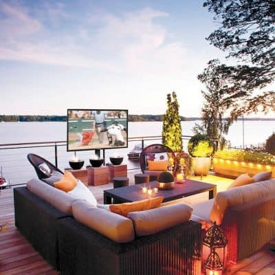 Complete Your Outdoor Space With A Weatherproof Television