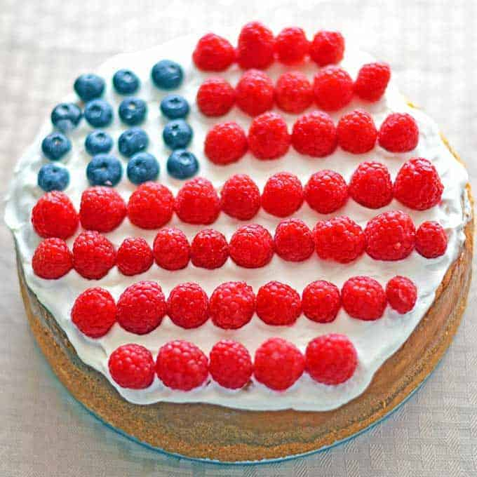 American Flag Cheesecake Recipe 1