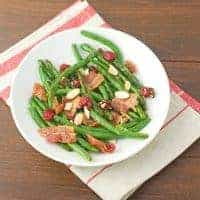 Sauteed Green Beans With Bacon, Cranberries, And Almonds Recipe