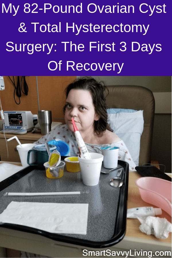 I Had An 82-Pound Large Ovarian Cyst: Here I'm talking about my surgery to remove what ended up being an 82- pound ovarian cyst and total hysterectomy with an incision over a foot long. Here's how the first 3 days went. Includes pictures of the surgery and cyst itself.  #health #surgery #womenshealth  #ovariancyst #ovarian