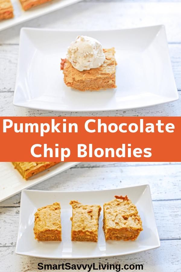 Pumpkin Chocolate Chip Blondies Recipe 1