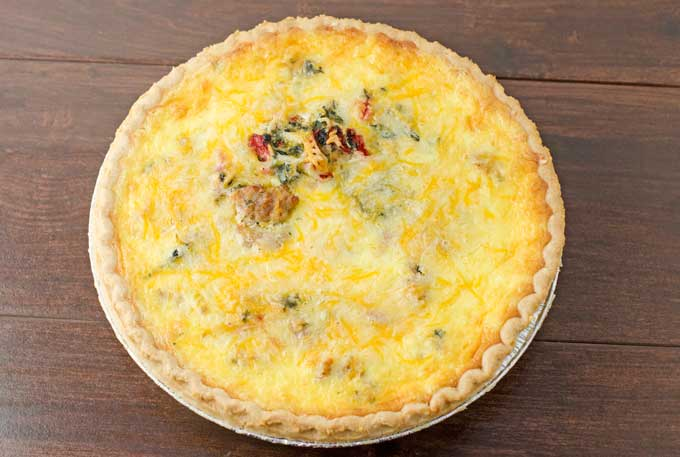 Sausage, Roasted Red Pepper, And Spinach Quiche Recipe 1