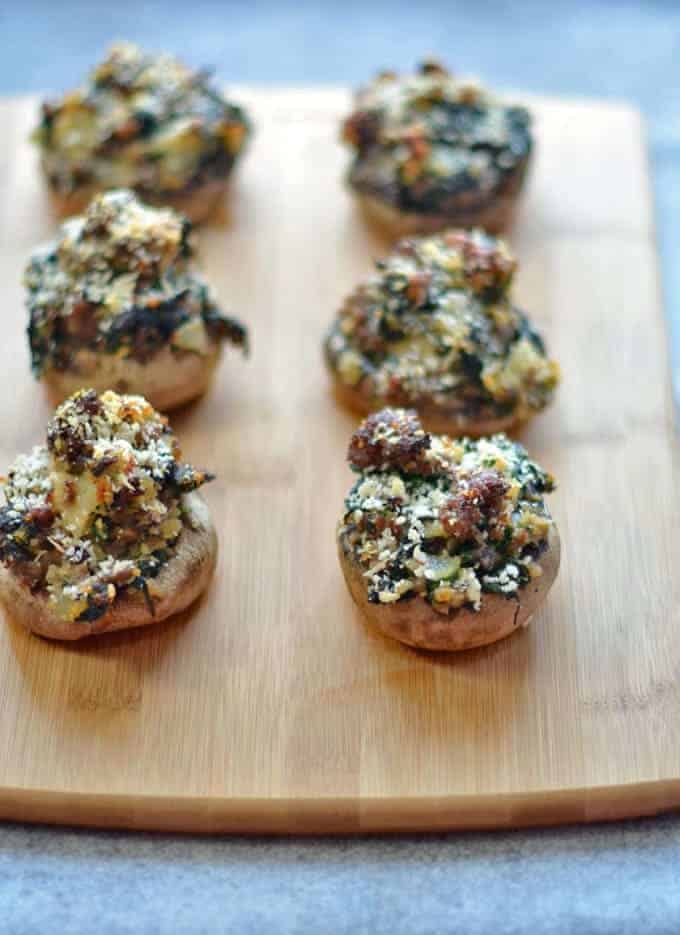 Spinach and Sausage Stuffed Mushrooms Recipe 1