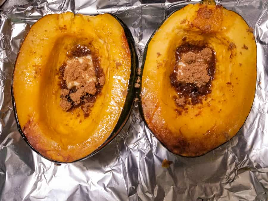 Baked Acorn Squash Recipe With Brown Sugar 6
