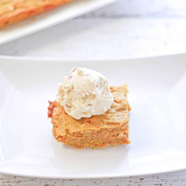 Pumpkin Chocolate Chip Blondies Recipe