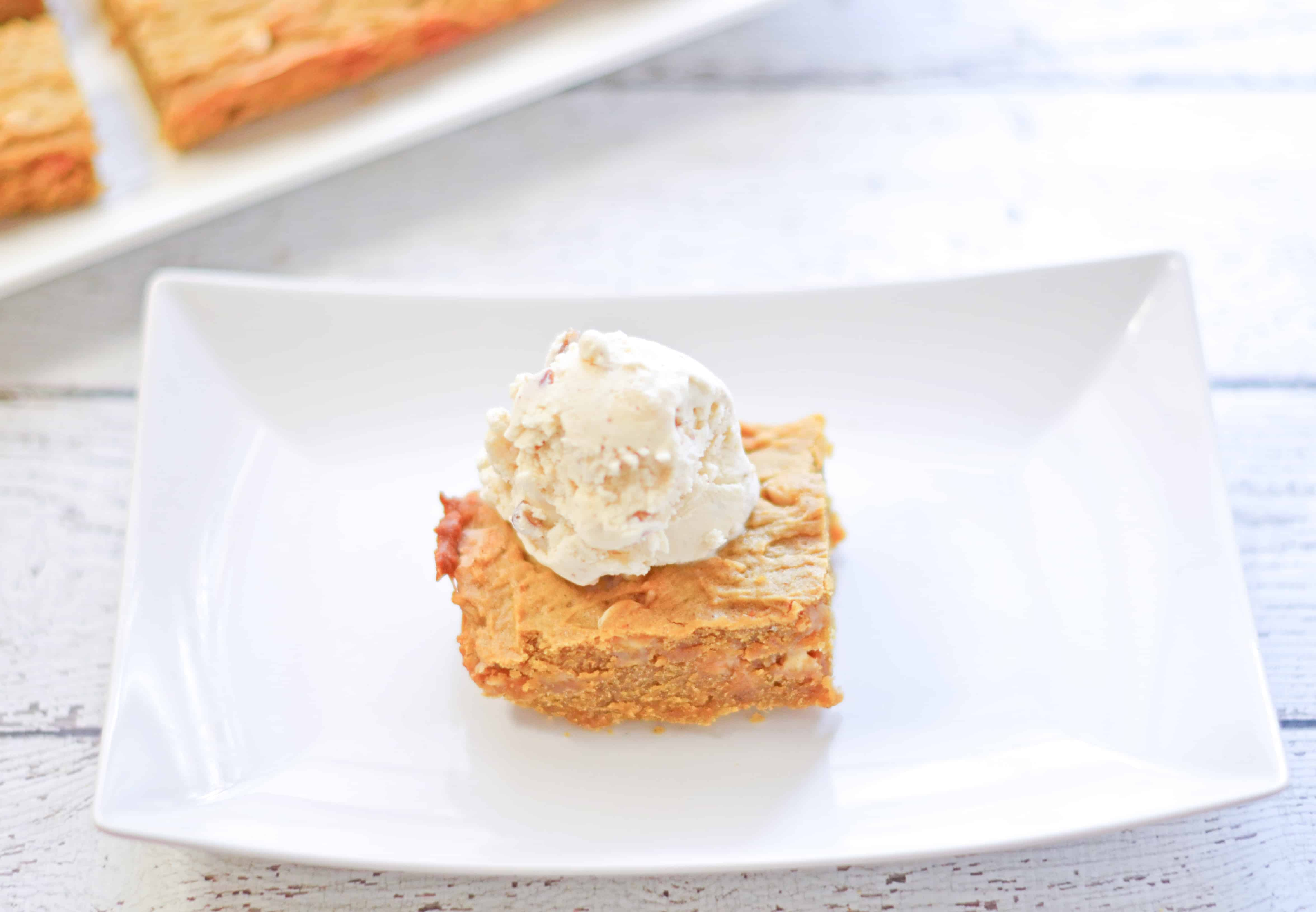 Pumpkin Chocolate Chip Blondies Recipe 2