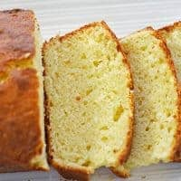 Olive Oil Sour Cream Pound Cake with Lemon Recipe