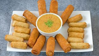 Spring Rolls with Spicy Asian Citrus Dipping Sauce Recipe