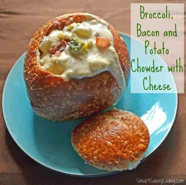 Broccoli, Bacon and Potato Chowder with Cheese 1