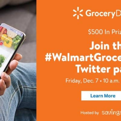 Win $500 In Prizes At The #WalmartGroceryDelivery Twitter Party 12/7/2018