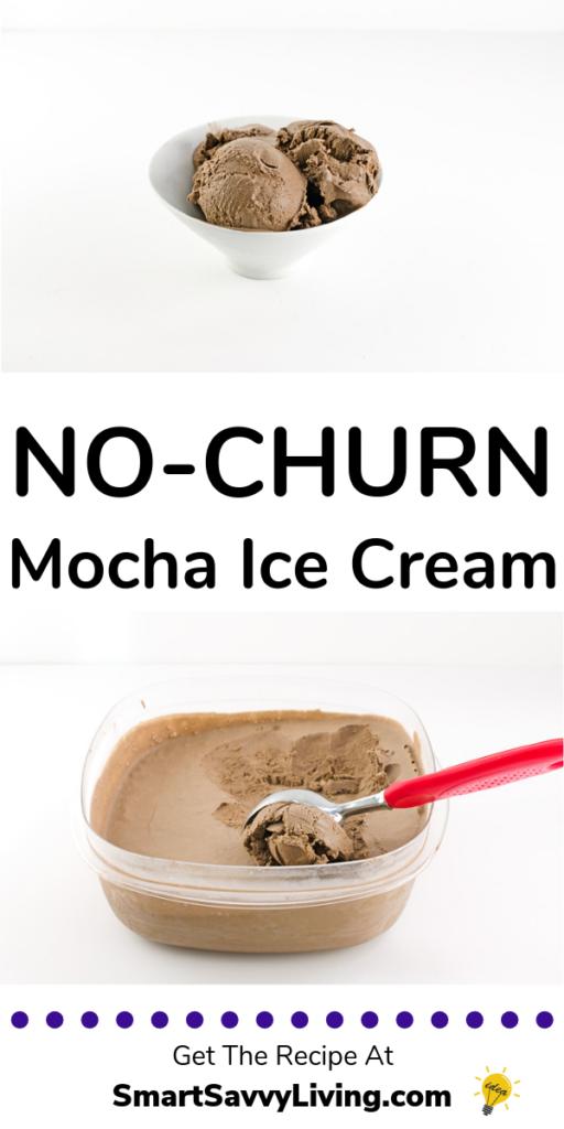 Easy No-Churn Mocha Ice Cream Recipe