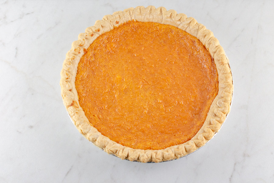 The Best Sweet Potato Pie Recipe picture of pie baked and ready to serve