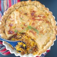 (Leftover) Tex-Mex Chili Bean Turkey Pot Pie