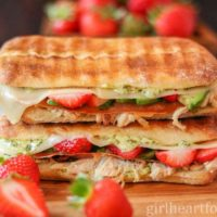 Turkey Panini {with crispy prosciutto & strawberries}
