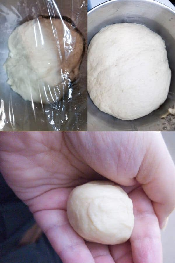 Homemade Cloverleaf Rolls Recipe showing the dough rising and being shaped