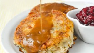 Leftover Turkey Potato Cakes - pure comfort food heaven...from leftovers!