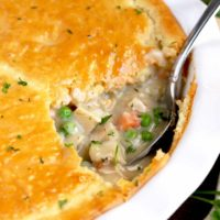 Turkey Pot Pie with Biscuit Topping