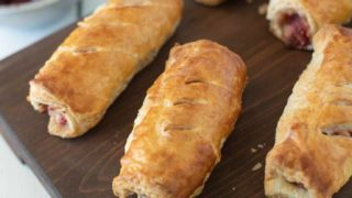 Turkey, Stuffing and Cranberry Sausage Rolls