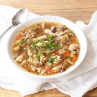 Leftover Turkey Noodle Soup + Best Ever Homemade Broth